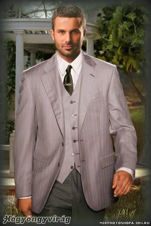 мужской фотошаблон в бизнес стиле такая красота растет